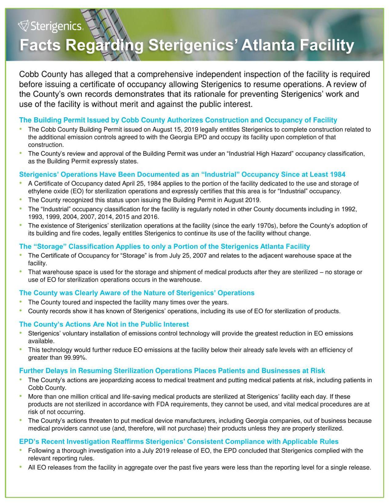 Sterigenics Cobb Fact Sheet