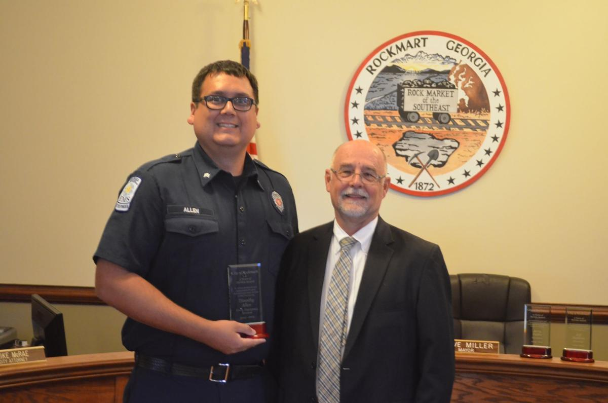 Rockmart City Council honors employees