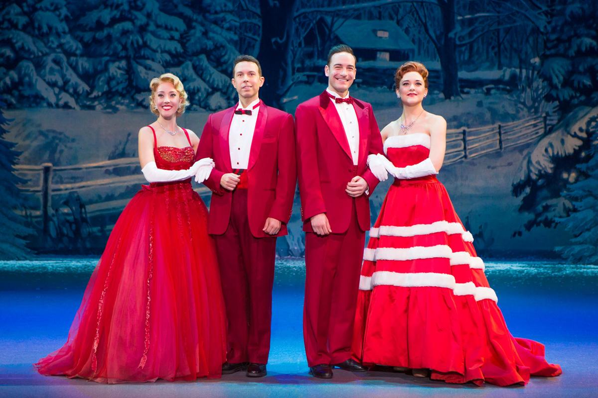 The Cast Of White Christmas.White Christmas Bringing Song Dance To Fox Theatre