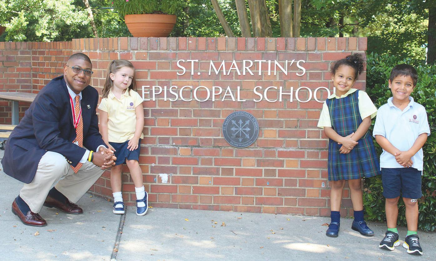 St. Martin's 2 Luis A. Ottley with students