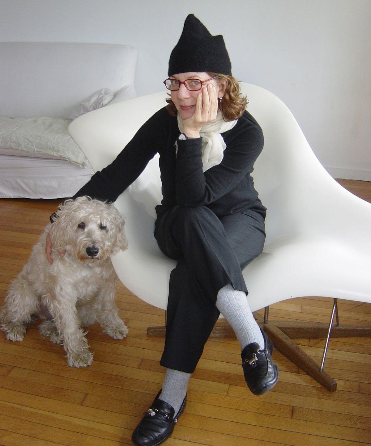 061919_MNS_High_Kalman_001 Maira Kalman with her dog Pete