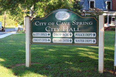 Cave Spring City Hall sign