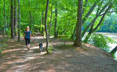 CRNRA 2 woman and dog hiking