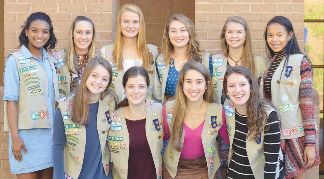 buckhead girl scout troop members earn gold award
