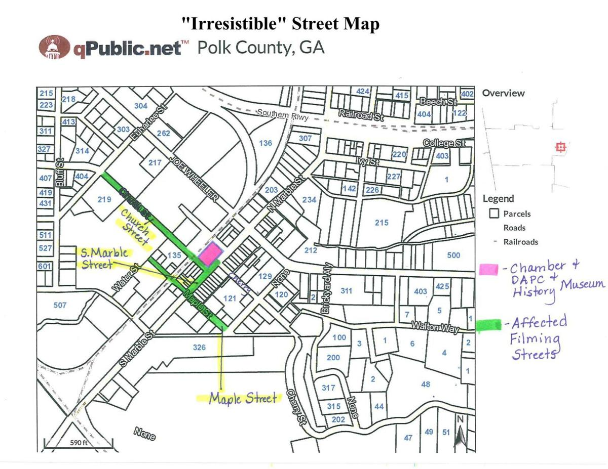 """""""Irresistible"""" street map for May filming"""