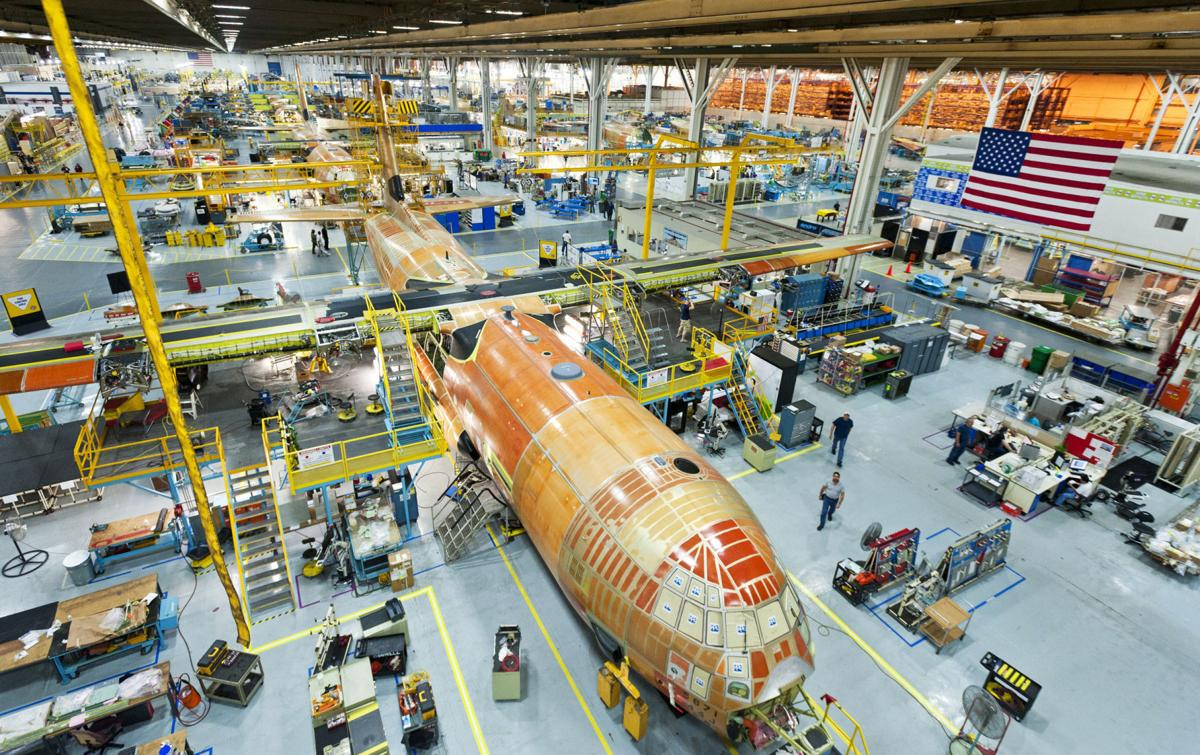 C-130 Super Hercules production line