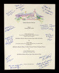 The Robert Mondavi Winery Dinner menu with signatures. (Special Photo)