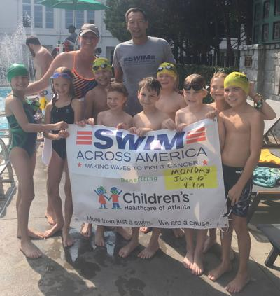 062619_MNS_full_Ansley_Olympian Ansley Sharks swimmers with Caitlin Muldoon Nei Kuan Chia