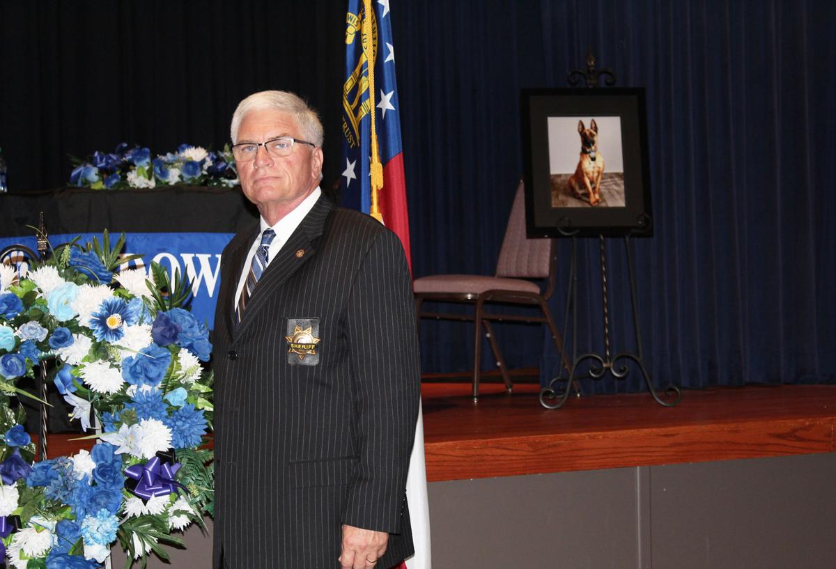 Sheriff Steve Wilson Officiated K9 Memorial