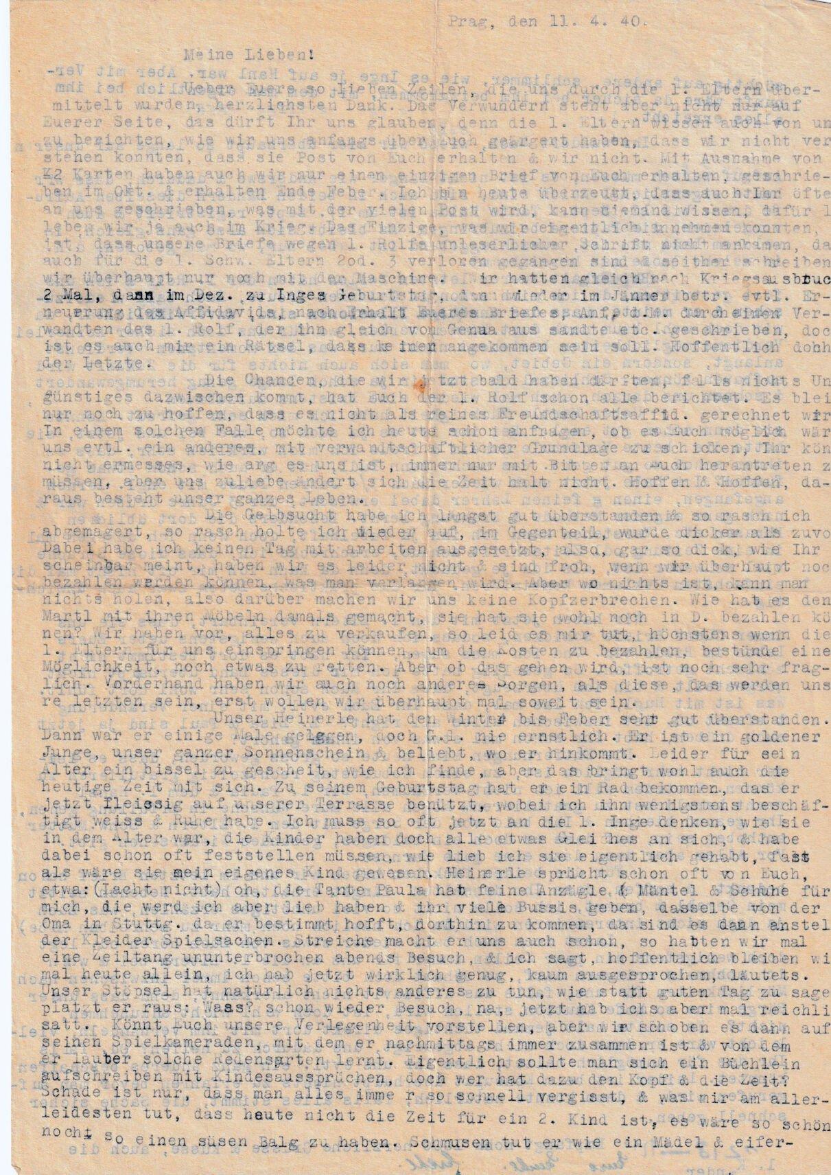 Allen letter