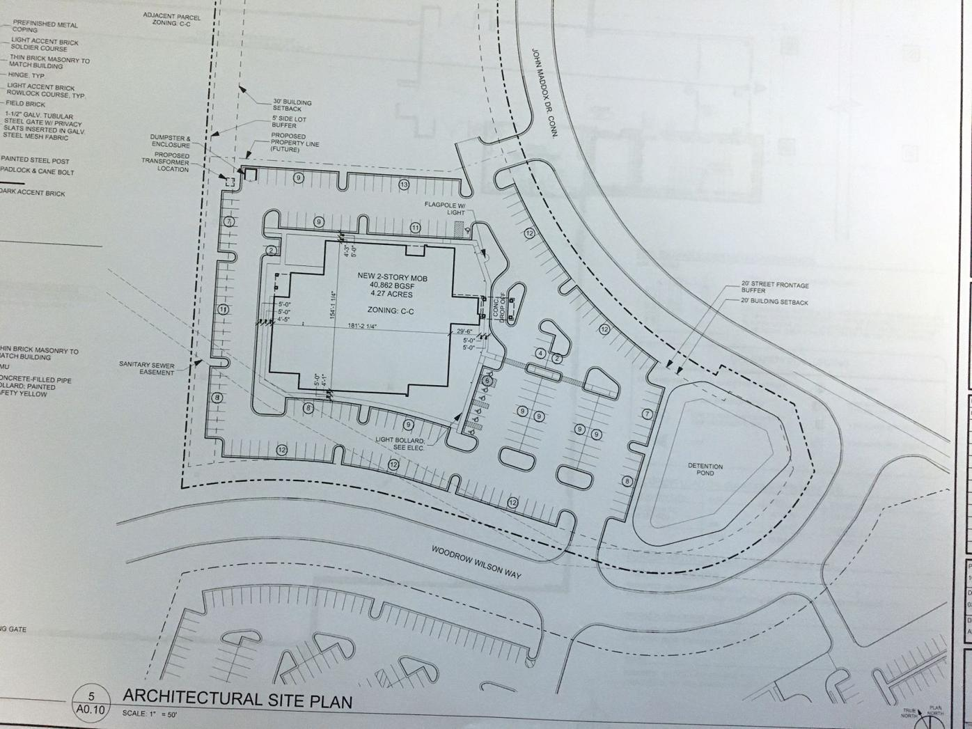 Site plan for new Harbin medical office building