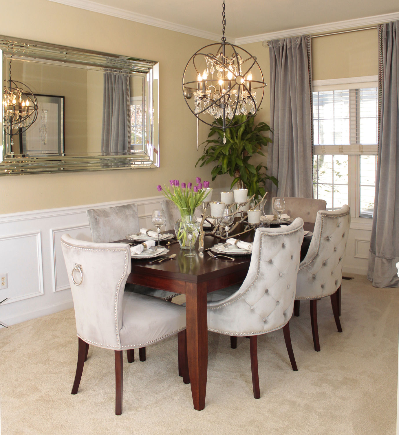 New life changes turned this dining room from beige to bling Cobb