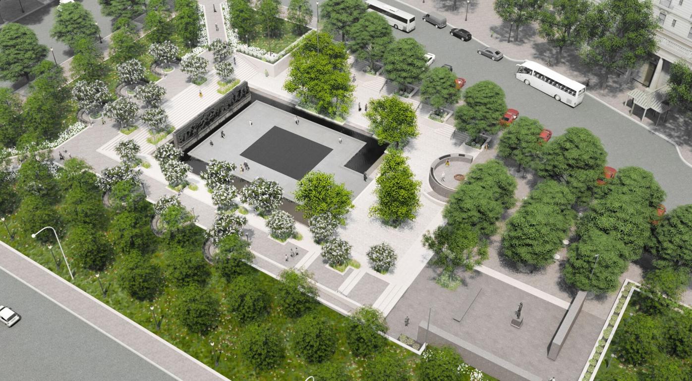 042121_MNS_Weishaar_memorial_001 World War I Memorial aerial view