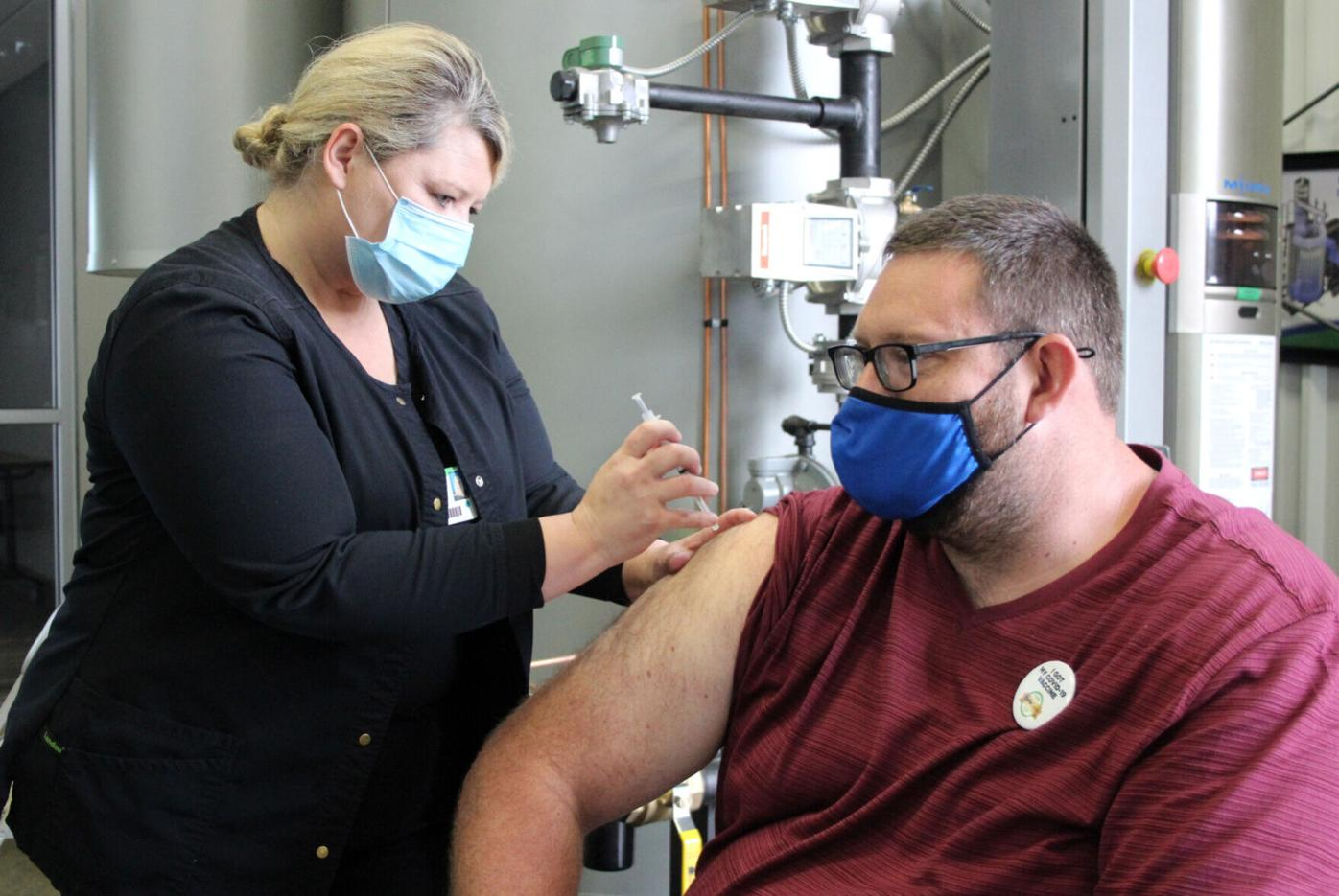 Development authority hosts vaccine clinic at industry