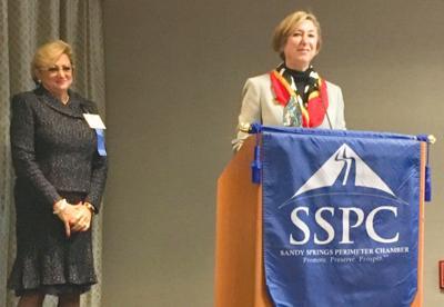 Leadership honor Andrea Settles Karen Trylovich