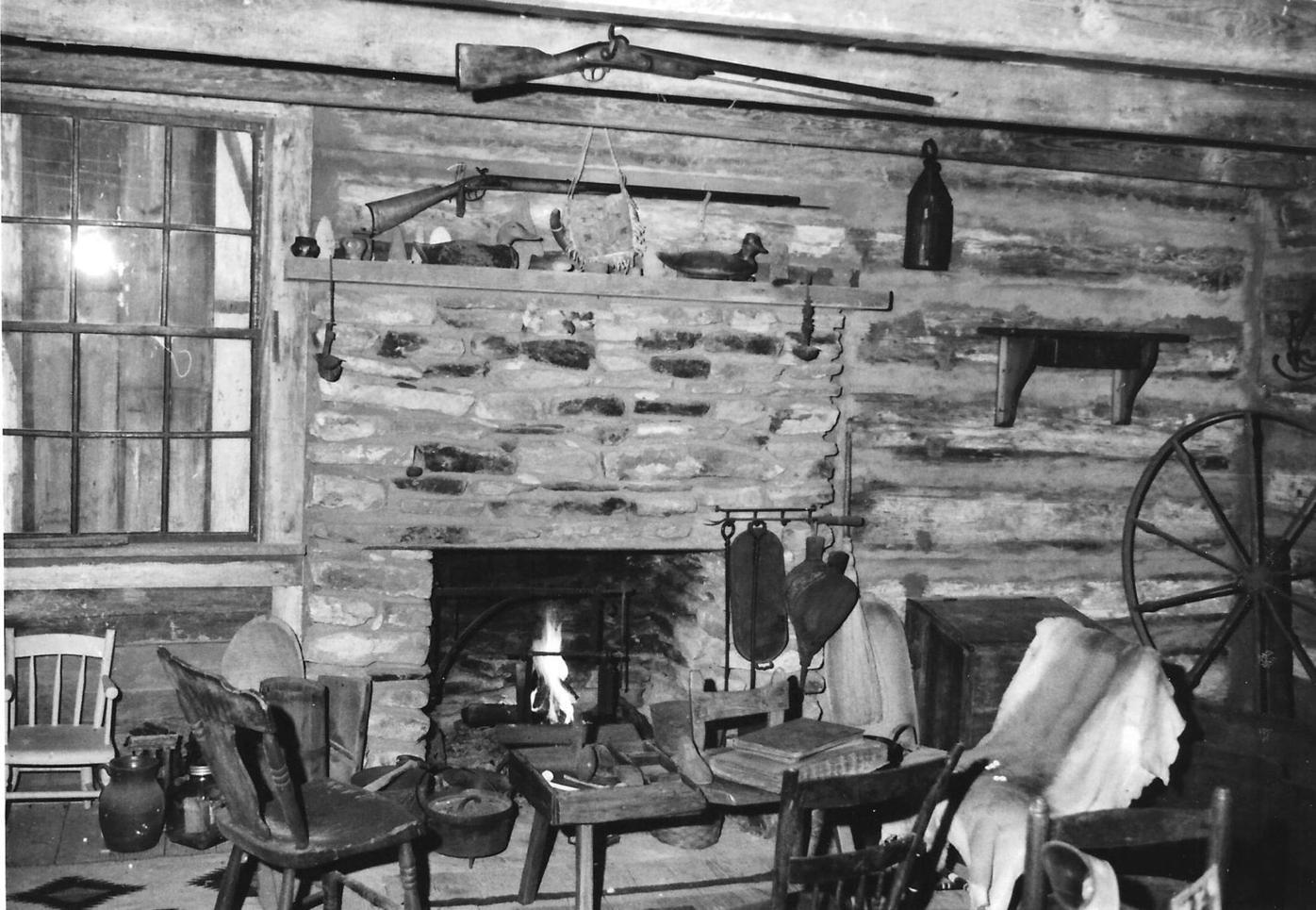 061219_MNS_Whitley_gun_002 guns on wall in John Whitley's cabin
