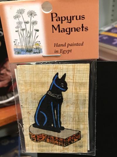 Cat papyrus magnet