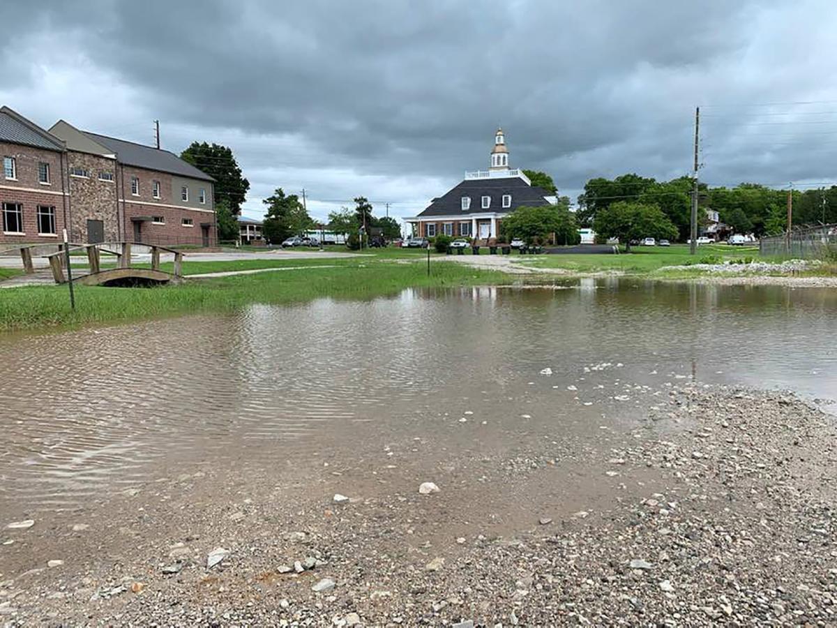 Cleburne Street flooding
