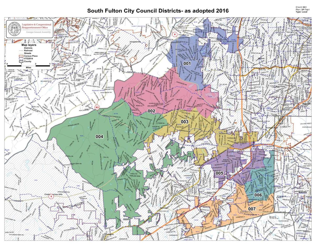 City of South Fulton district map | NeighborNewsOnline com