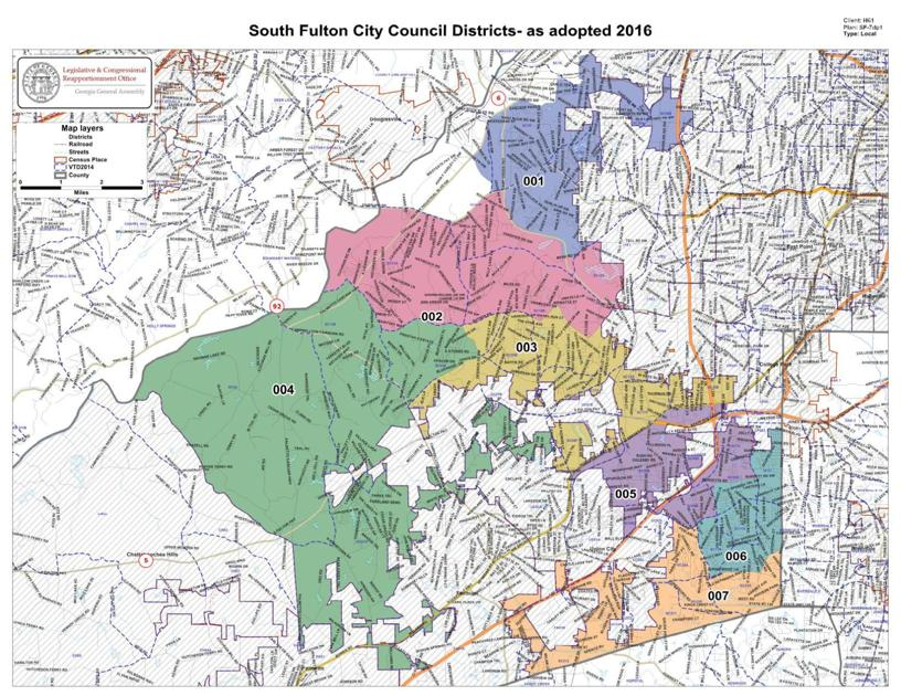 City Of South Fulton District Map NeighborNewsOnlinecom - South ga map