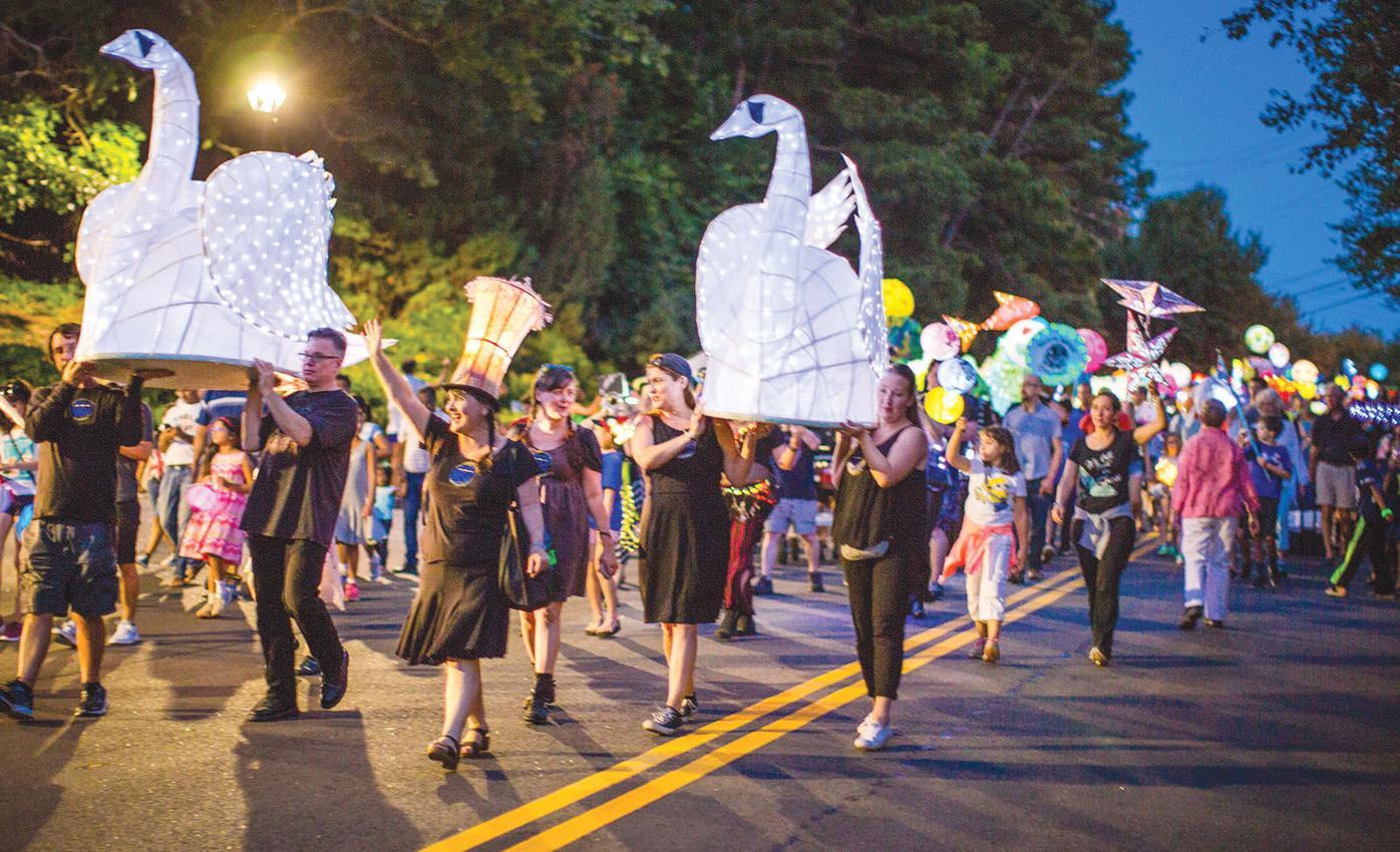 Full lantern parade 1 Participants walk
