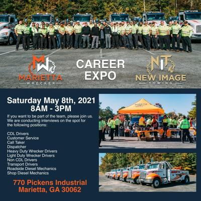 Marietta Wrecker Service and New Image Towing to Host Career Expo May 8