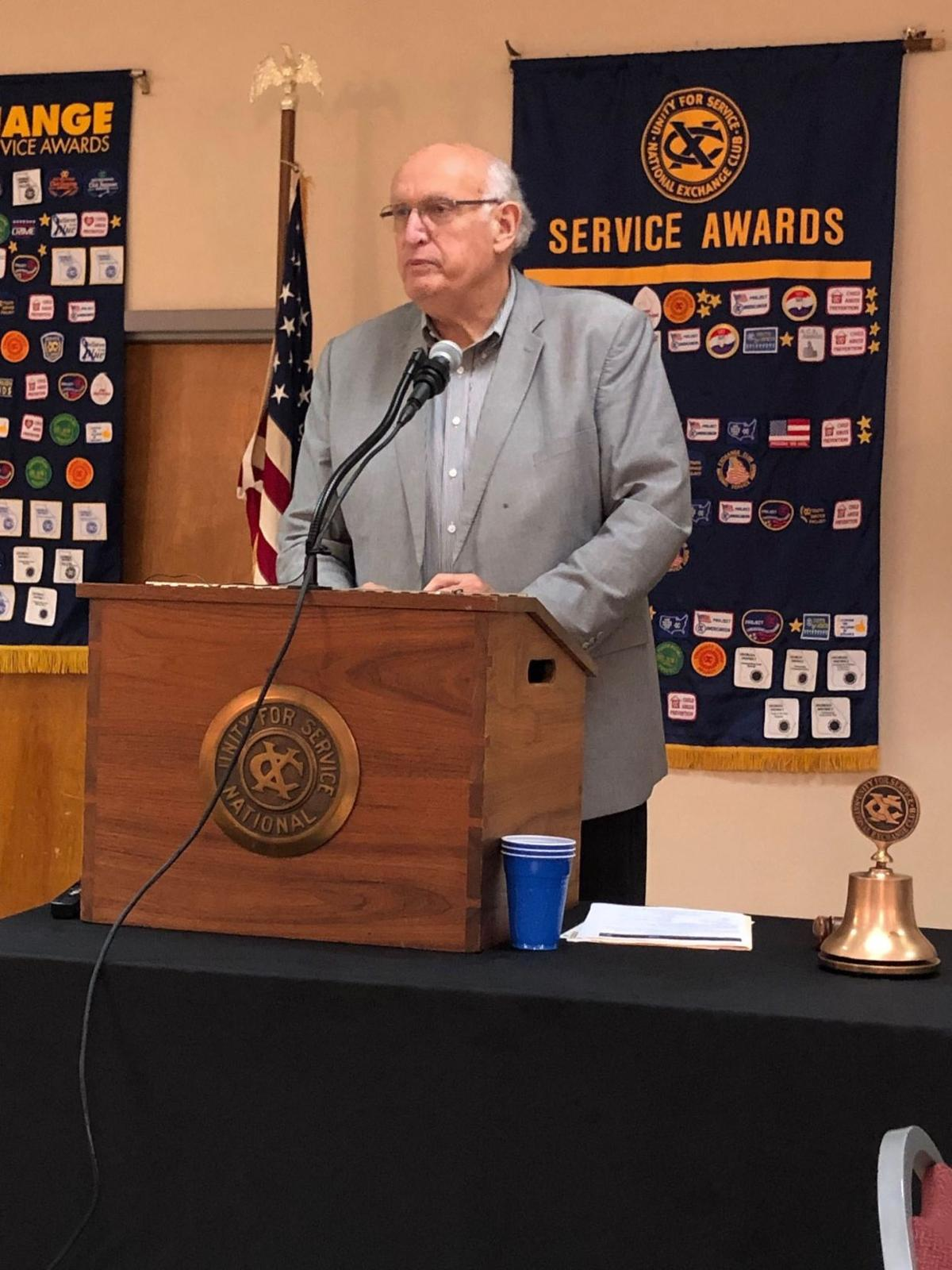 Former sheriff shares stories of life with Exchange Club