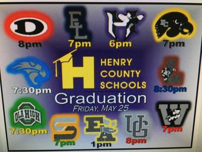 HCS graduation dates graphic