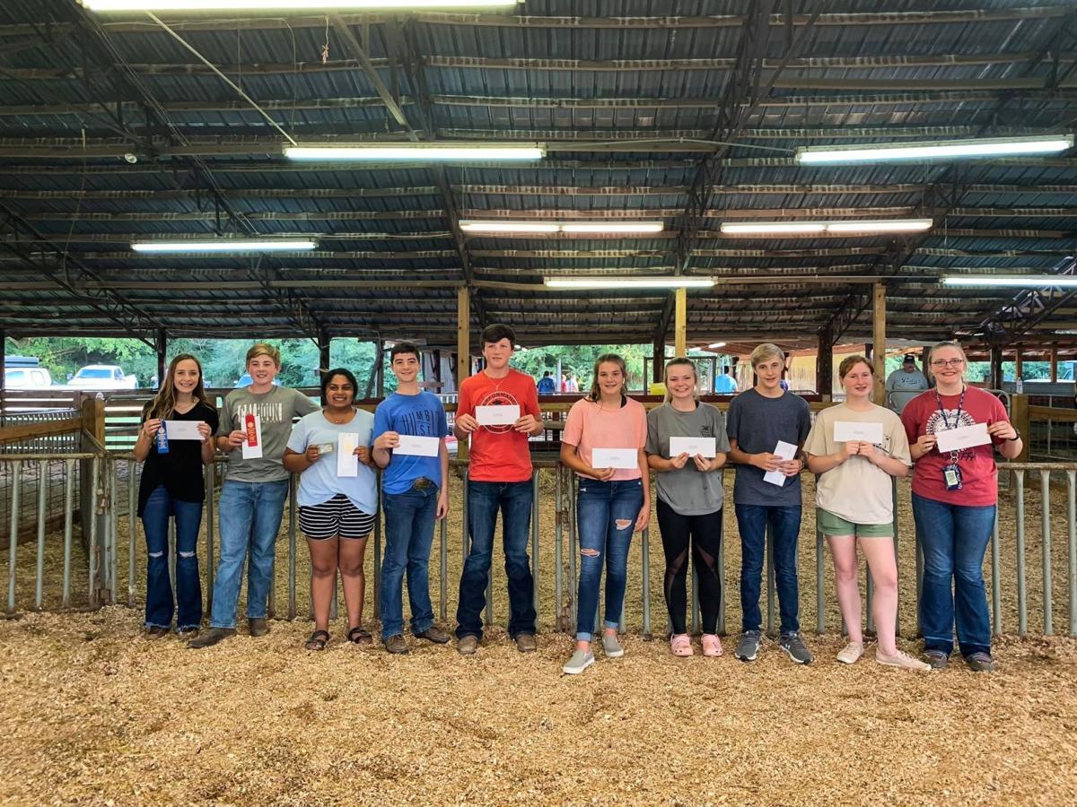 Top Ten of the Senior Division at the NW GA Regional Fair Livestock Judging Contest