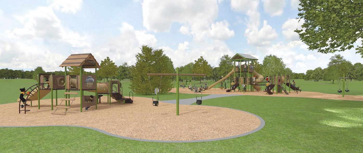 Memorial Park Playground rendering