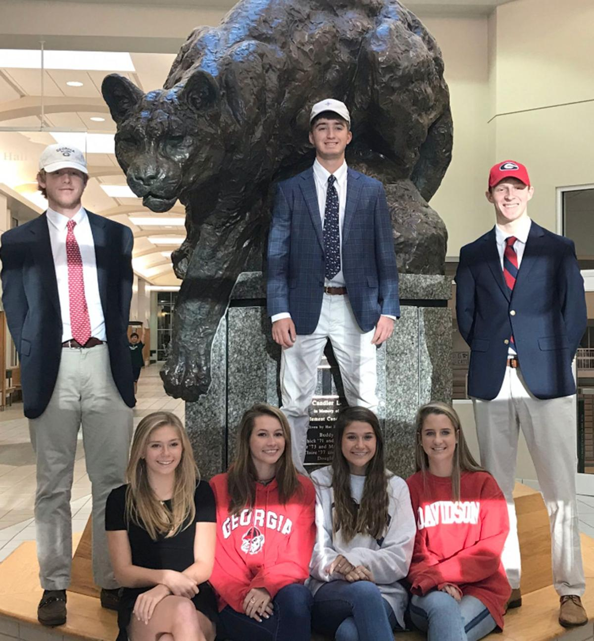 010120_MNS_Westminster_signees Parks Harber David Dickey Zachary Roe Alex Wagner Maggie Graham Riley Patton