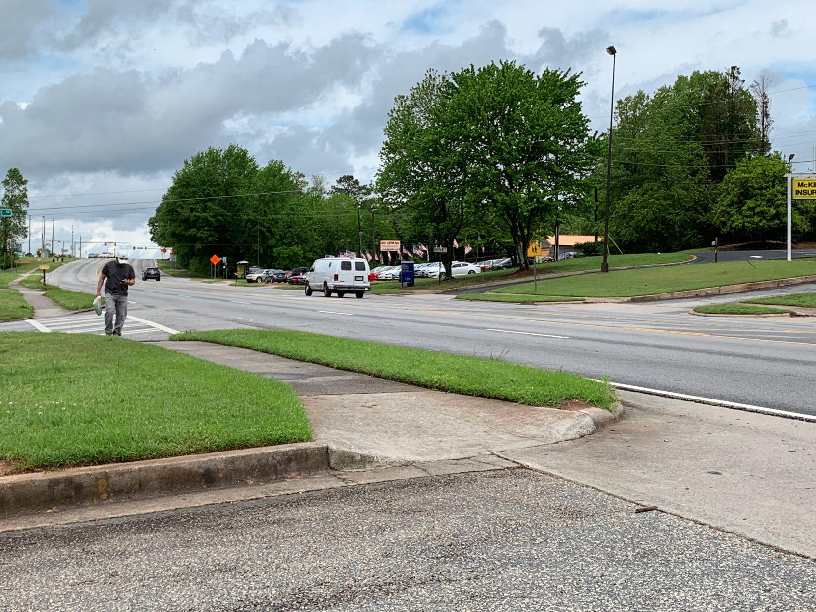 Pedestrian on South Cobb Drive