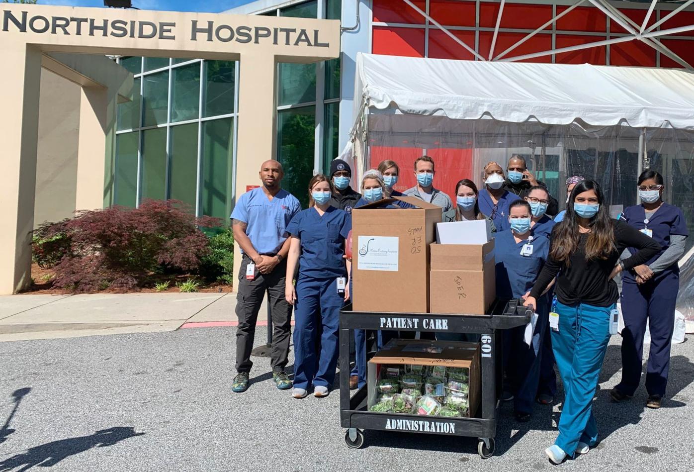 042920_MNS_full_Usher_meals_001 Northside Hospital emergency room staff members