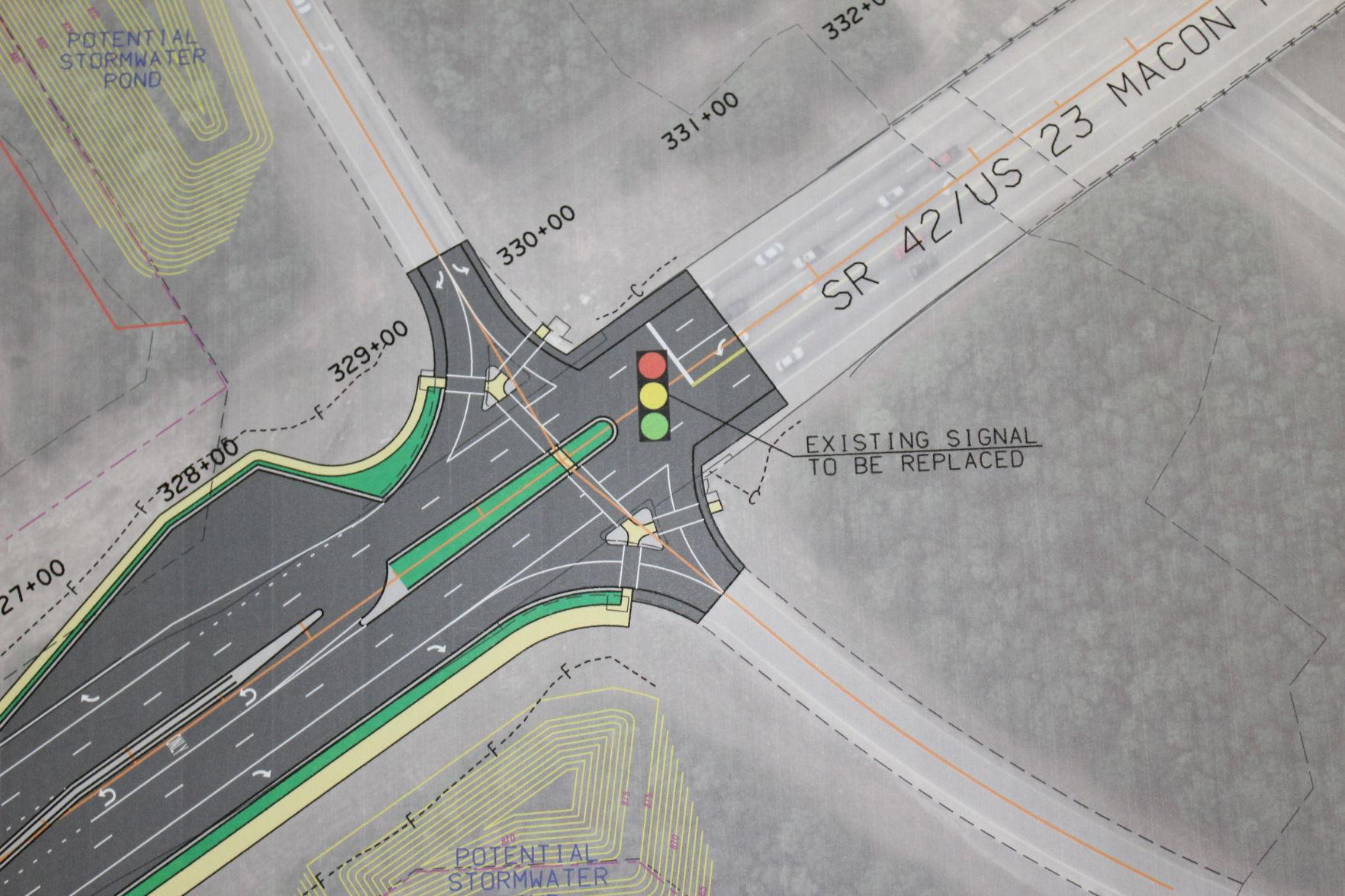 Road Map Of Project%0A GDOT outlines laneadding plan near Stockbridge WalMart   News    mdjonline com