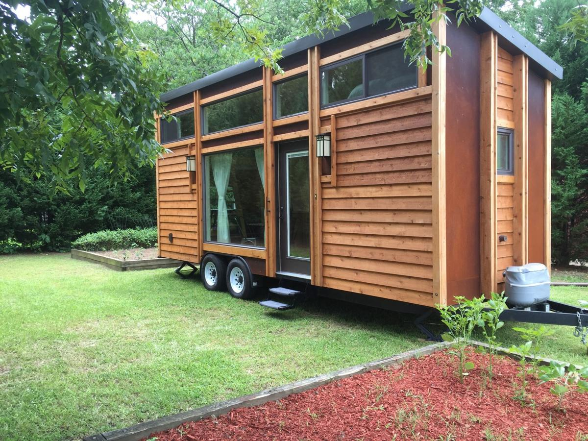 where to put a tiny house. Tiny House Atlanta Partnered With The Nonprofit ART Station In Stone Mountain To Put A Home, Pictured, On Display For Several Weeks, Which Guests Could Where E