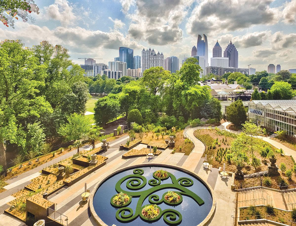 Atlanta botanical garden opens skyline garden northside sandy springs neighbor for Botanical gardens atlanta lights