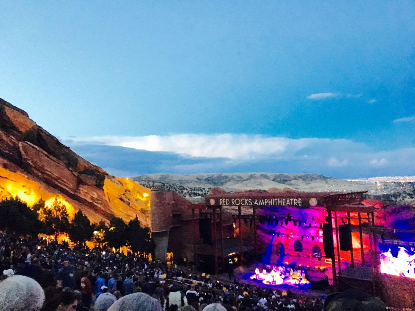 Red Rocks Amphitheatre for Jason Isbell and Lucero in Morrison, Colorado