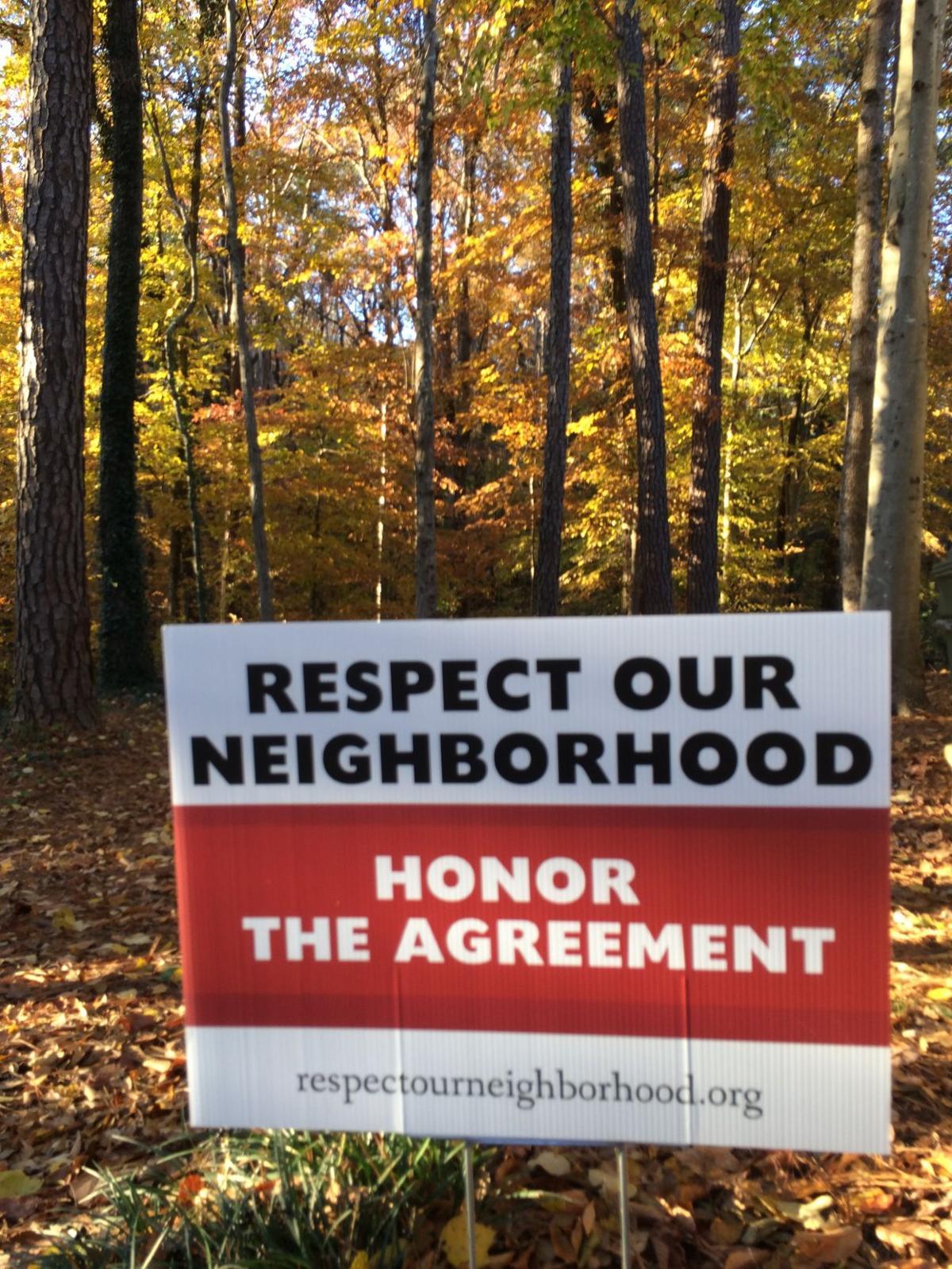 Yard sign Holy Spirit-neighborhood agreement