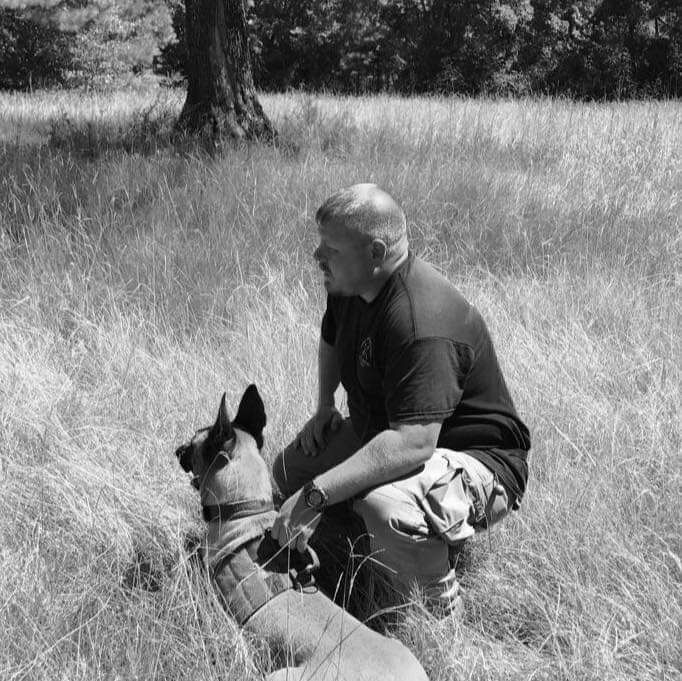 Corey Griffin and K9 Rocky