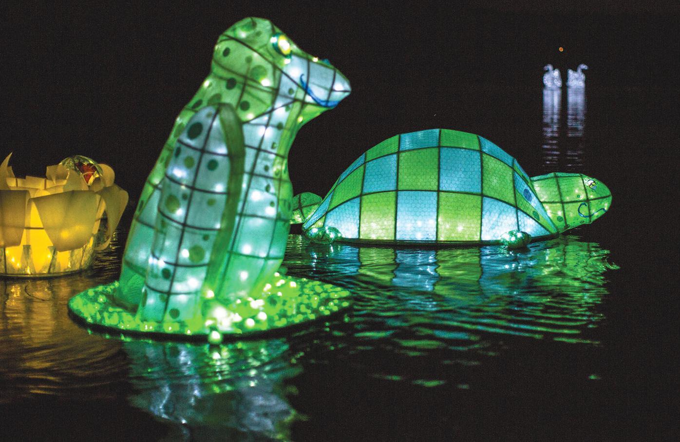 Full lantern parade 2 lanterns float
