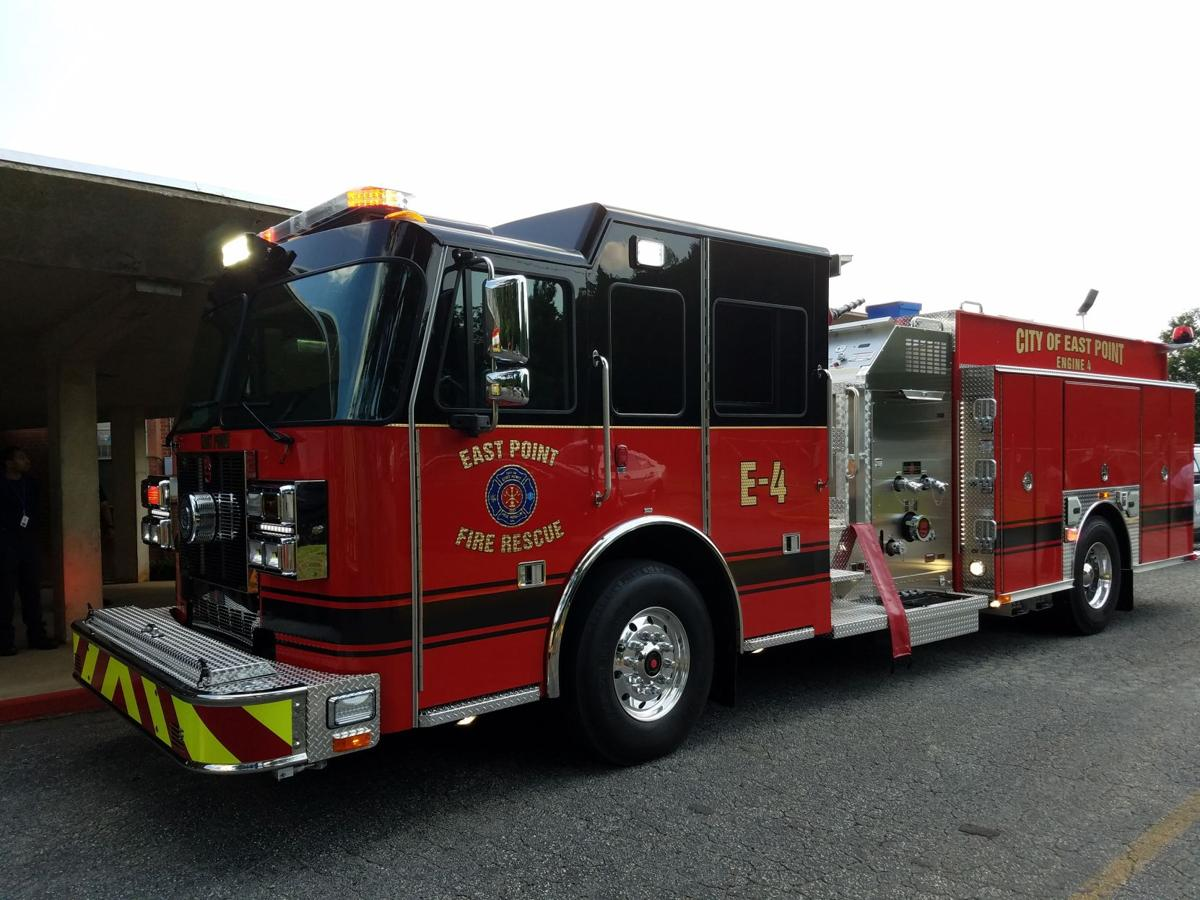 East point fire department gets three new trucks news east points new enginepumper from dublin ohio based sutphen corp arrives at the fire department june 9 sciox Gallery