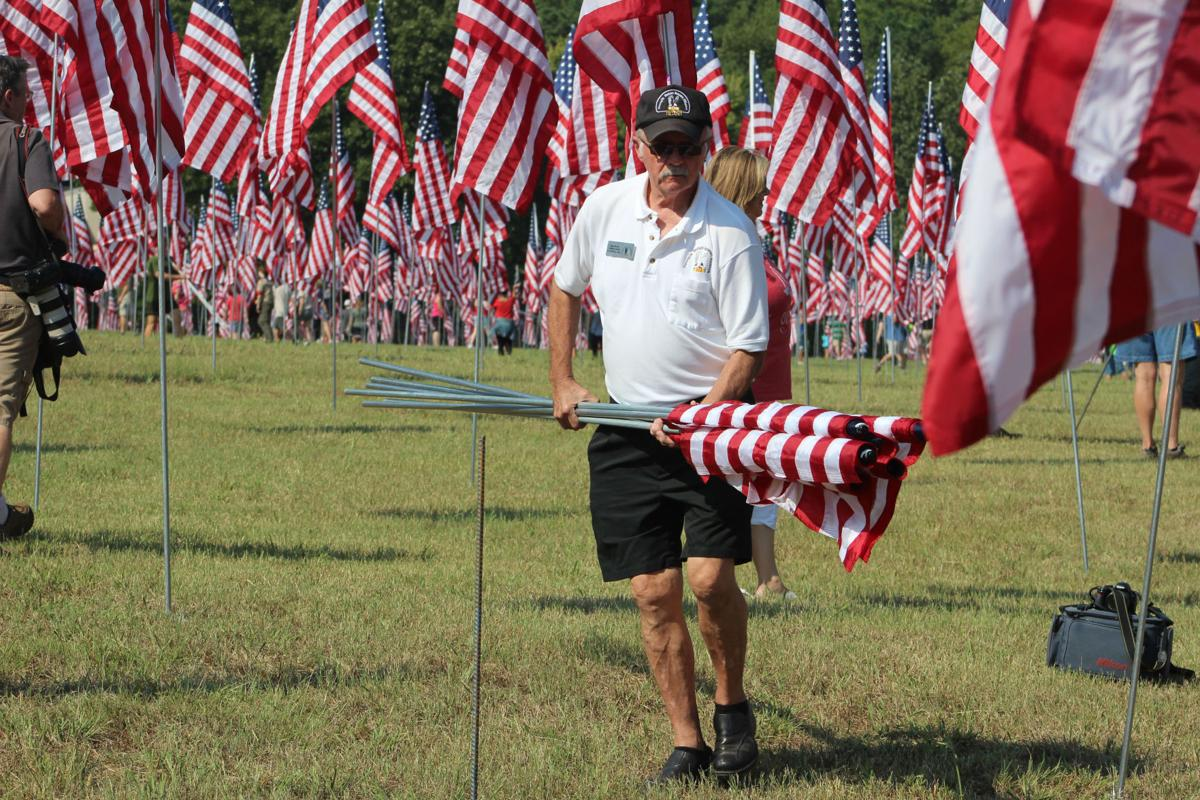 Field of Flags represents the 2,977 lives lost on Sept  11