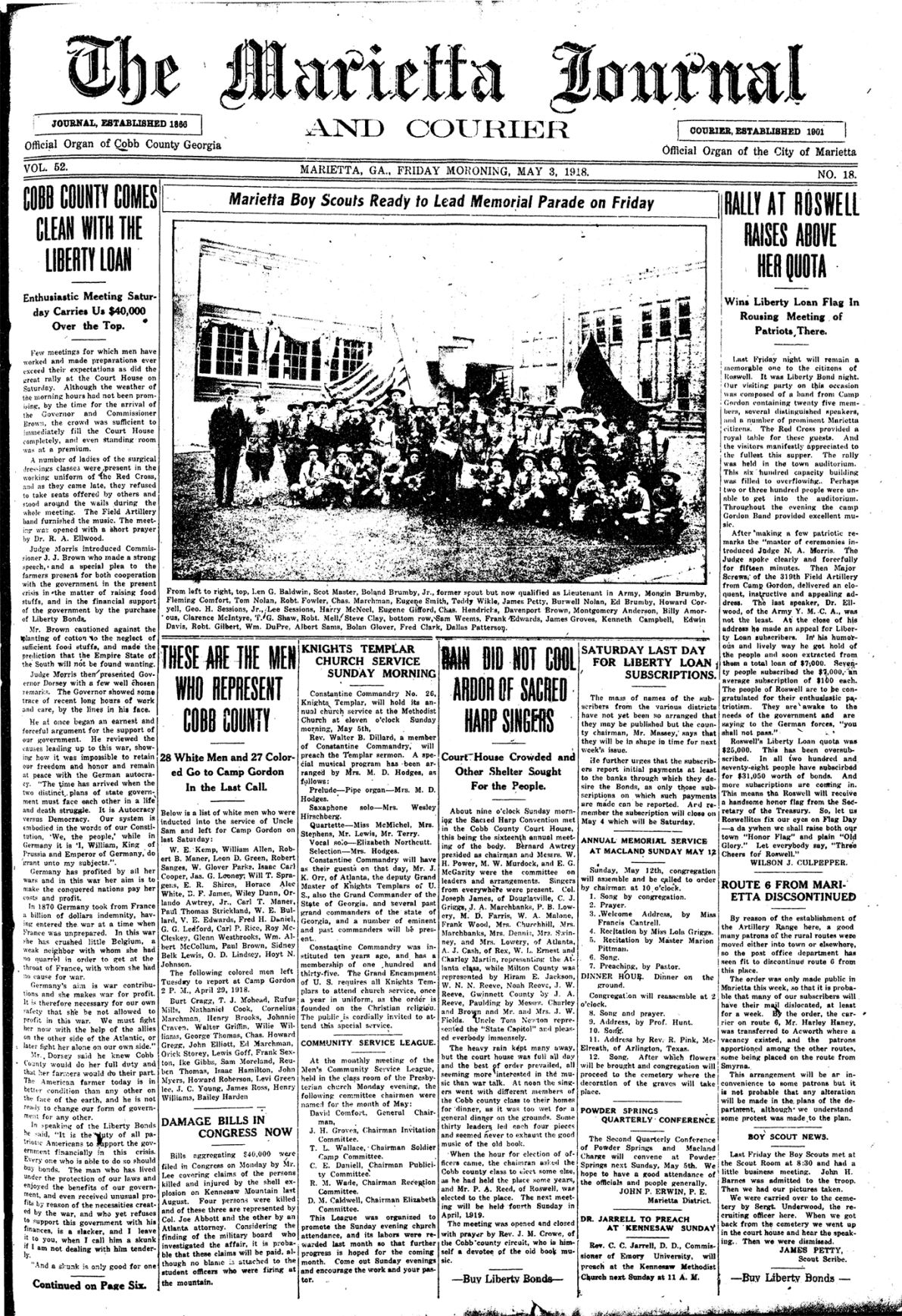 May 3, 1918, Page A1 Front - Time Capsule.jpg