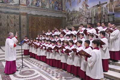 Pope's Choir group