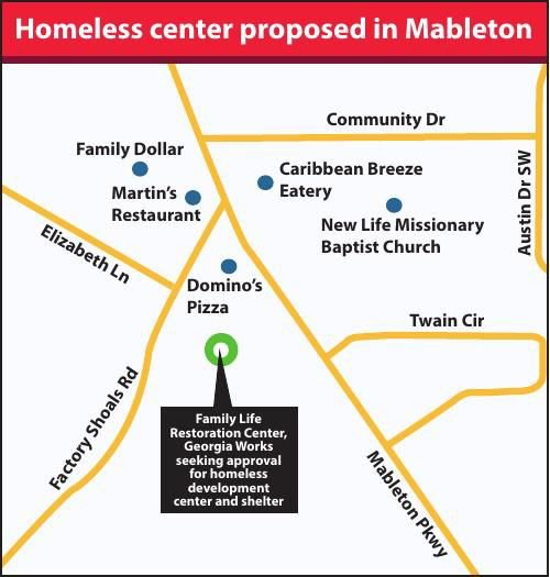 Mableton homeless center decision delayed