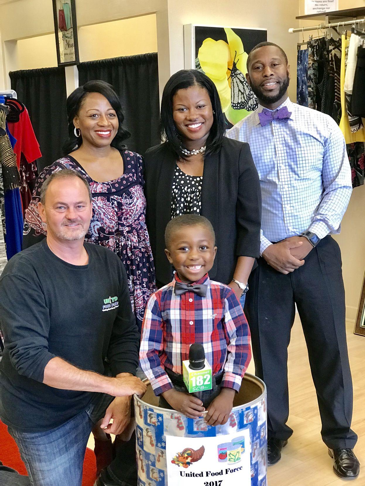 Vance McCutcheon, Sonji Monroe and Thornton family