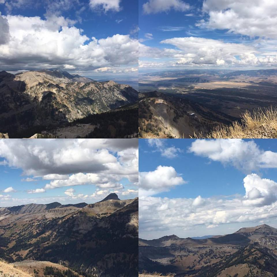 Views from the top of Rendezvous Mountain in Teton Village, elevation 10,450 feet.