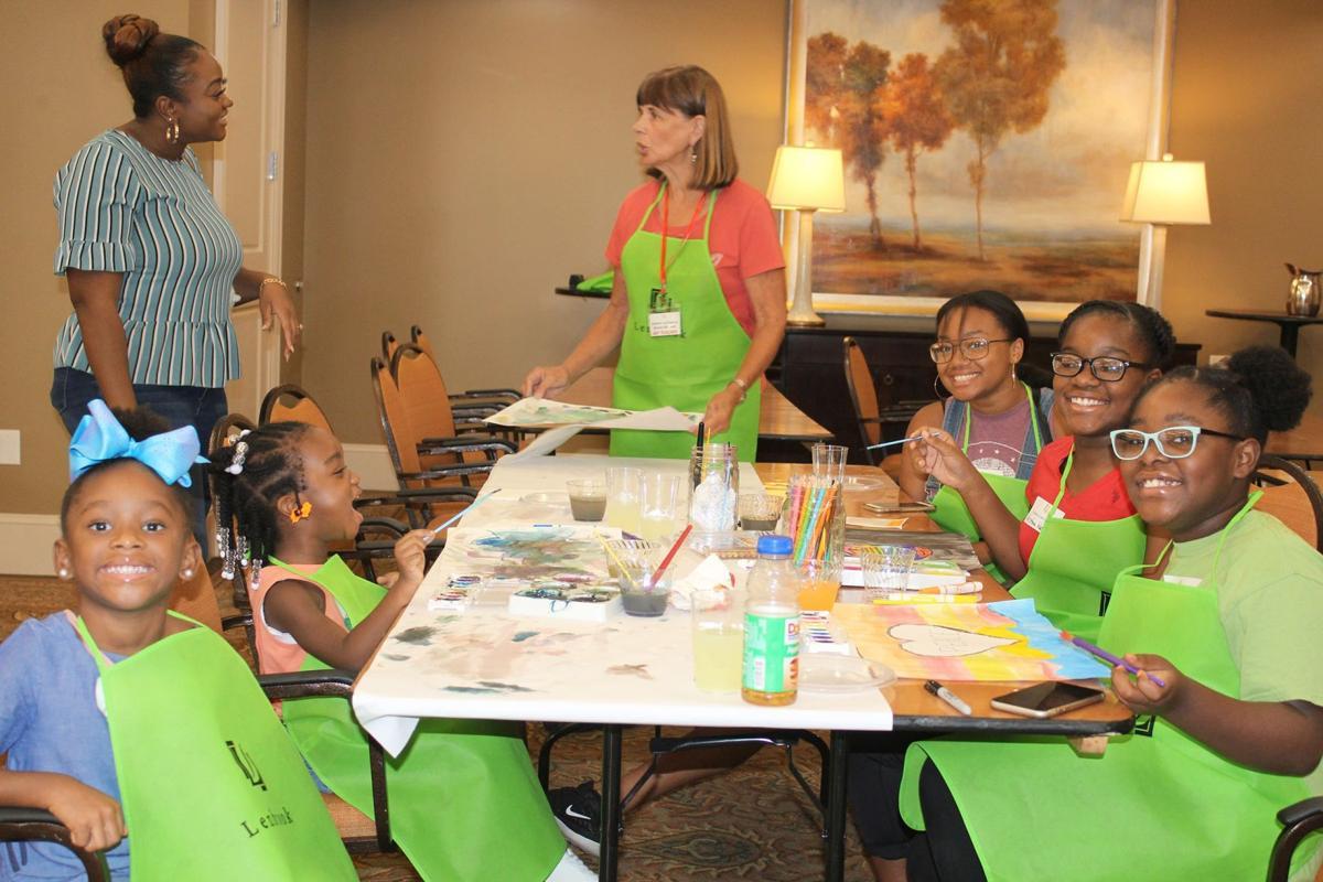 092519_MNS_full_art_exhibit_002 children with Charmelia Richards Melody Milbrandt