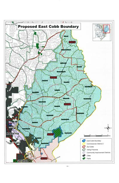 Zip Code Map Marietta Ga.Will You Live In East Cobb S New City Proposed Boundaries Unveiled