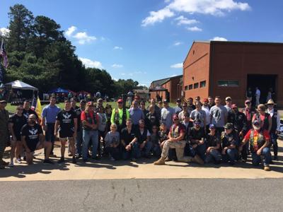 Shepherd's Men with Brasfield & Gorrie employees